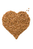 Heart from buckwheat Stock Photos