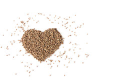 Heart from buckwheat Stock Image