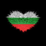 The Heart of Bulgaria Flag. The Heart of Bulgaria Flag abstract background Royalty Free Stock Image