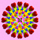 Heart burst 3 Royalty Free Stock Photos