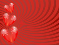Heart Burst Background. Background for collages, cards, invitation cards Royalty Free Stock Photography