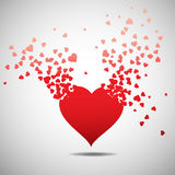 Heart with burst effect,  Royalty Free Stock Photos