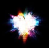 Heart burst illustration Stock Photo