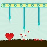 Heart bursting machine Royalty Free Stock Photography