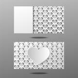 Heart business card design Stock Photos