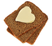 Heart of the butter royalty free stock image