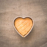Heart butter cake Royalty Free Stock Photography