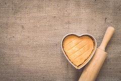 Heart butter cake Royalty Free Stock Photos