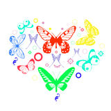 Heart butterflies Stock Photography
