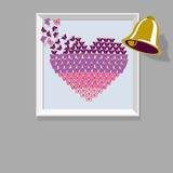 Heart with butterflies image Royalty Free Stock Photos