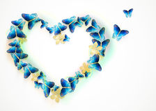 Heart with butterflies for Valentines Day Royalty Free Stock Images