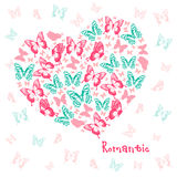 Heart of butterflies Royalty Free Stock Photography
