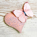 Heart and butterfly Royalty Free Stock Photo