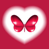 Heart butterfly design Royalty Free Stock Photos