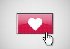 Heart button Royalty Free Stock Photo