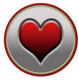 heart button Royalty Free Stock Images