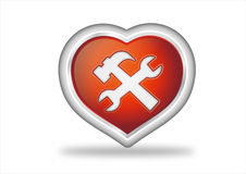Heart button icon Stock Image