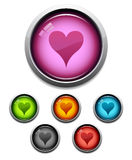 Heart button icon Royalty Free Stock Photos