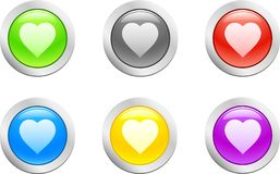 Heart button. [Vector] Royalty Free Stock Photography