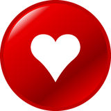 Heart button vector illustration. Red vector button with a heart Royalty Free Stock Image