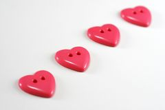 Heart Buttons Royalty Free Stock Images
