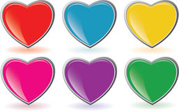 Heart buttons Stock Photos
