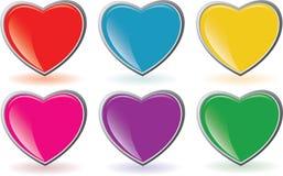 Heart Buttons Stock Photos