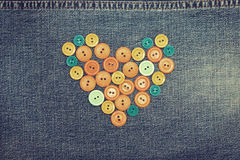 Heart from  buttons Royalty Free Stock Image