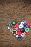 Heart of buttons Royalty Free Stock Photography