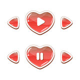 Heart buttons set Royalty Free Stock Images