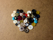 Heart from buttons. St. Valentine`s Day Royalty Free Stock Photos