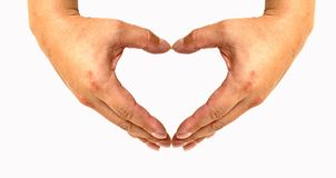Heart By Hands Royalty Free Stock Image