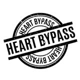 Heart Bypass rubber stamp Stock Photos