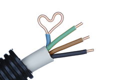 Heart on cable head Royalty Free Stock Image