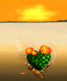 Heart Cactus Royalty Free Stock Images
