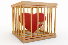 Heart in a Cage Stock Images