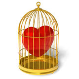 Heart in cage Stock Photography