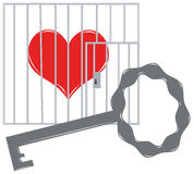 Heart in a cage Royalty Free Stock Photo