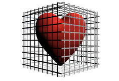 Heart in cage Royalty Free Stock Photos