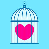 Heart in cage Royalty Free Stock Photography