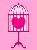 Heart in cage Stock Image