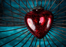 Heart in Cage Royalty Free Stock Photo