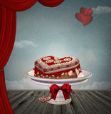 Heart cake Royalty Free Stock Images