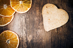 Heart Cake Made of Rustic Wood Shop. Royalty Free Stock Photography