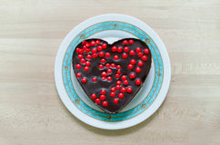 Heart cake Royalty Free Stock Image