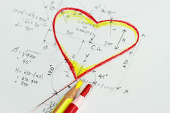 Heart calculation Royalty Free Stock Photography