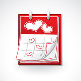 Heart calendar Stock Photography