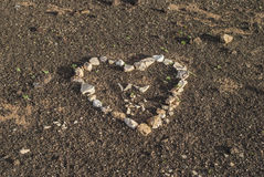 Heart on canarian sand Stock Image