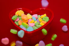Heart Candies Falling Stock Photography