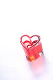 Heart candle Royalty Free Stock Images
